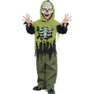 Halloween Light Up Skeleton Boys Costume M 7 8