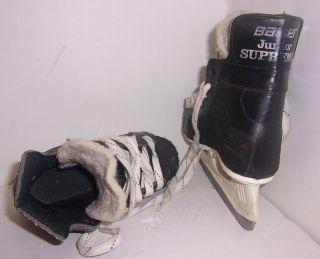Junior Supreme Boys Leather Ice Hockey Skates Tot Size 10.5 Youth