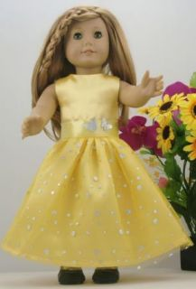 1pcs Doll Clothes Princess Dress Suit for 18 American Girl New