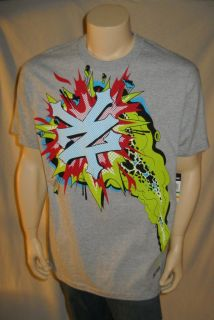 Genuine Zoo York Heather Gray T Shirt Colorful Print Mens Sizes