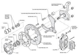 Wilwood Disc Brake Kit 55 57 Chevy 150 210 Bel Air 11 Rotors Black