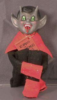 Handmade Original Art Krampus The Christmas Devil on A Shelf Knee