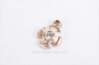 LB LEE BREVARD sterling 925 crystal MALTESE cross earring charm 0 02oz