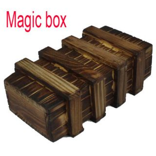 New Wood Magic Secret Puzzle Box Brain Teaser Big Size