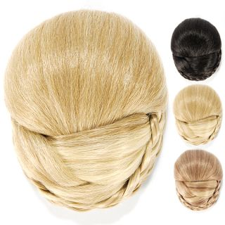 Braided Ponytail Kanekalon Bun Updo Chignon Wig Party Cocktail Wedding