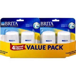 Brita 4 Tap Faucet Water Replacement Filter Filters Britta Carbon