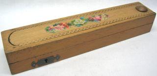 Southward Childs Pencil Box Case Brandauer Wooden Dip Ink Pen Vintage
