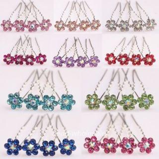 10pcs Bridal Jewelry Clear Crystal Rhinestone Hair Accessory Hair Pins