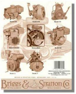 BRIGGS & STRATTON Genuine Small Antique Engine Repair Manual CE8069