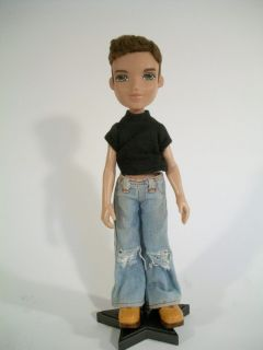 2002 Bratz Boyz Doll Dylan 10 Tall Short Flocked Brown Hair Green