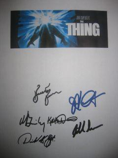 Signed Movie Script Kurt Russell John Carpenter Brimley Masur reprint