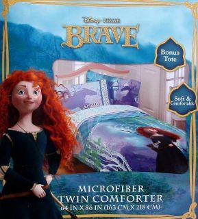 Disney Pixar Brave Merida Forest Twin Comforter Sheets 4pc Bedding Set