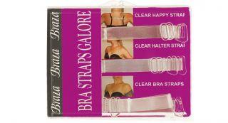 Braza Bra Strap Galore Multi Function Clear Bra Straps