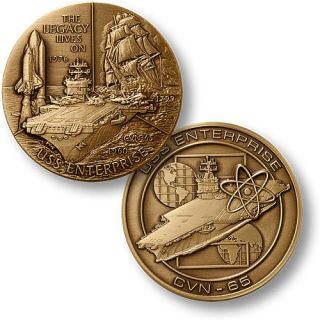 USS Enterprise Nuclear Aircraft Carrier Bronze Medal