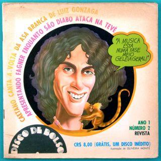 Caetano Veloso Fagner Disco de Bolso 72 Bossa Brazil