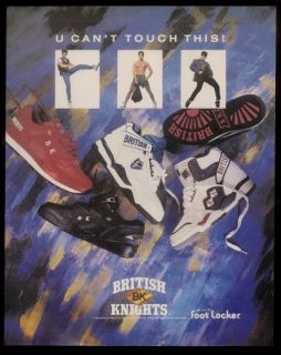 1990 British Knights Shoes 5 Models Photo Ad