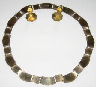 David Andersen Norway Sterling Necklace Earrings Set