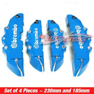3D Blue Brembo Style Brake Caliper Covers 4 Pieces Front Rear