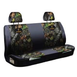 Browning Buckmark and Mossy Oak Infinity Universal Bench Seat Cover