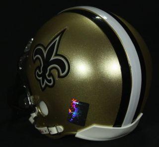 drew brees signed mini helmet brees holo saints item riddell mini