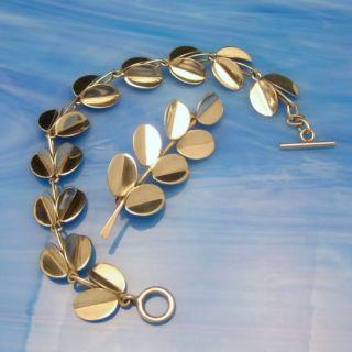 Sterling Vintage Mid Century Modernist Bracelet Brooch Pin Set