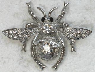 Clear Rhinestone Crystal Bumblebee Pin Brooch E129