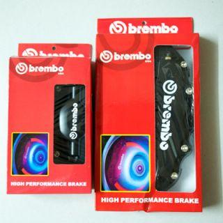 Black Brembo Look Brake Caliper Cover Set Front Rear