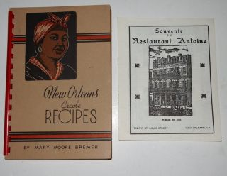 Creole Recipes Cookbook Mary Moore Bremer 1960 Anoine Souvenir