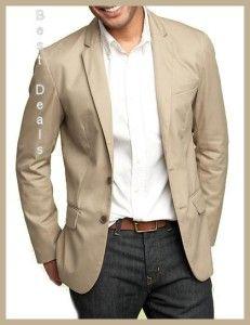 Gap Mens New Classic Khaki Tailor Fitted Blazer Jacket XL NWT Retail $