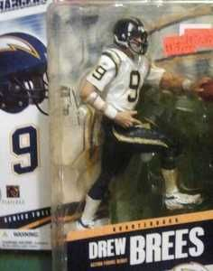 McFARLANE NFL 12 DREW BREES SD CHARGERS FOOTBALL ACTION FIGURE NO