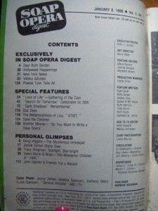Soap Opera Digest Jan 1980 Dark Shadows Tracy Bregman