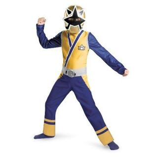 Power Rangers Gold Ranger Samurai Classic Child Costume 3T 4T Disguise