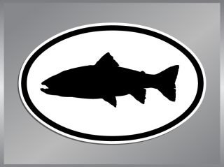 Brook Trout Silhouette o Vinyl Decal Fish Sticker