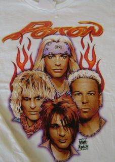 Poison Bret Michaels Old School Rock N Roll T Shirt XL