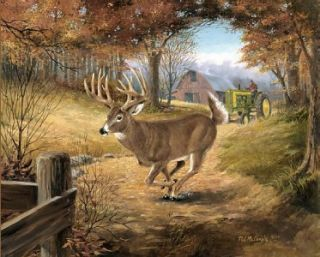 Deer John Deere Print Signed Numbered Print by R J McDonald