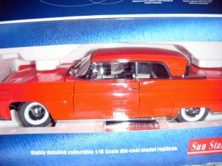 SUN STAR 1958 LINCOLN CONTINENTAL MARK III HARD TOP 1 18 RED HIGHLY