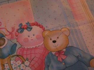 teddy bear mouse doll baby quilt fabric craft panel