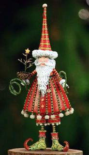Patience Brewster Krinkles Santa Ornament