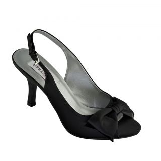 Faye in Black by Dyeables Bridal Bridesmaid Prom Shoes