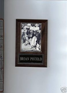 Brian Piccolo Football Plaque Chicago Bears NFL