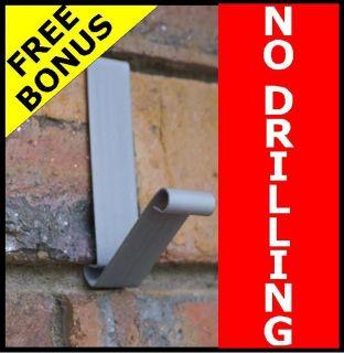 New No Tools Brick Wall Hook Metal Coat Hanger