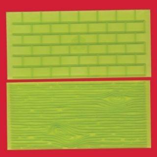 FMM Tree Bark and Brick Wall Impression Mat Set 1