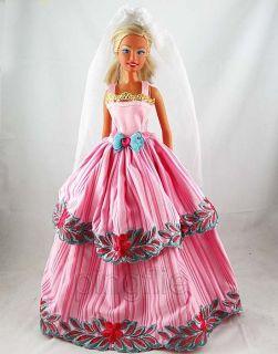 Fashion Handmade Wedding Dress Clothes for Barbie Doll W106