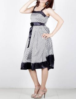 Gown formal Polka Dot Cocktail wedding Party Dress 202 US12 16 Plus XL