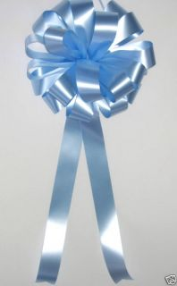 12 Light Blue Wedding Pew Bows Baby Shower Bridal Decorations Chair