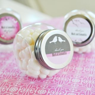 Personalized Mini Candy Glass Jars Wedding Bridal Shower Favors