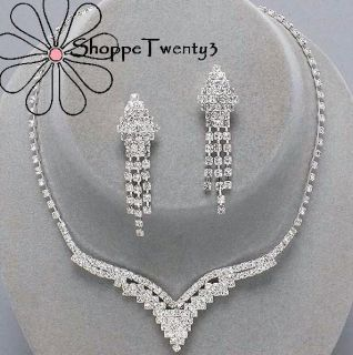 Tennis Necklace Set 14 20 Bridal Bridesmaid Jewelry Boxed