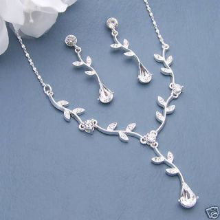 Four Bridal Wedding Bridesmaid Jewelry 4 Necklace Sets