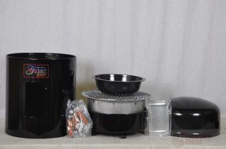Brinkmann 852 7080 V Gourmet Charcoal Smoker Grill/Vinyl Cover, Black
