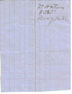 Old West 1868 Fort Bridger Wyoming Saloon Bar Bill for Beer and Cigars
